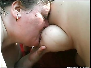 Two big and fat ladies got banged hardly