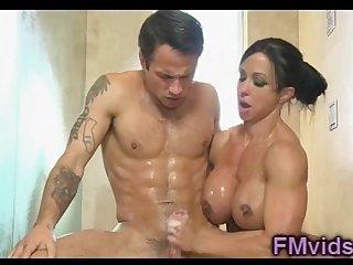 Jewels Jade nice shower handjob