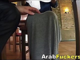 Hijab Wearing Refugee Swaps Hostel Stay For Blowjob
